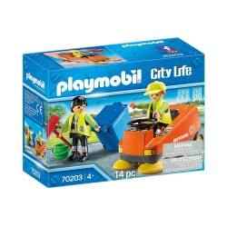 Playmobil City Life Street Sweeper Σάρωθρο Οδών Και Οδοκαθαριστές 70203 4008789702036