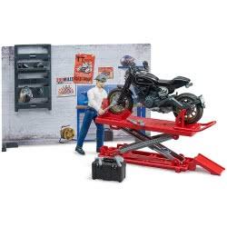 bruder Bworld Motorcycle Service Συνεργείο Για Μοτοσυκλέτες BR062101 4001702621018