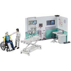 bruder Bworld Health Station Νοσοκομείο Με Ασθενή Και Γιατρό BR062711 4001702627119