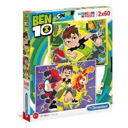 Clementoni Παζλ Ben Ten 2X60 Pcs Supercolor 1200-07136 8005125071364