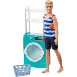 Mattel Barbie Ken Laundry Room Playset FYK52 887961706178
