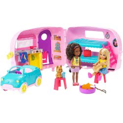 Mattel Barbie Club Chelsea Τσέλσι - Τροχόσπιτο FXG90 887961691115