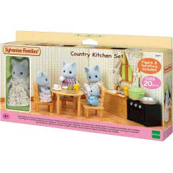 Epoch Sylvanian Families: Country Kitchen Set With Cat Mom 5164 5054131051641