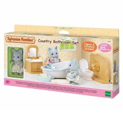 Epoch Sylvanian Families: Country Bathroom Set With Baby Cat 5165 5054131051658