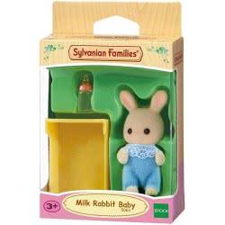 Epoch Sylvanian Families: Milk Rabbit Baby Μωρό Κουνελάκι Σε Κούνια 5063 5054131050637