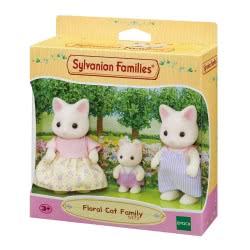 Epoch Sylvanian Families:  Floral Cat Family Οικογένεια Γάτες 5373 5054131053737