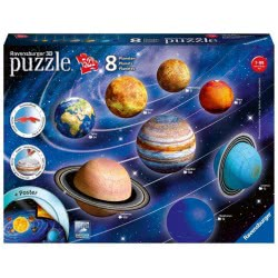 Ravensburger 3D Puzzle 522 Τεμ. Ηλιακό Σύστημα 11668 4005556116683