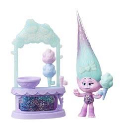 Hasbro Dreamworks Trolls Satins Sweet Treats, Cotton Candy Stand Ευχούληδες E3250 / E4670 5010993548934