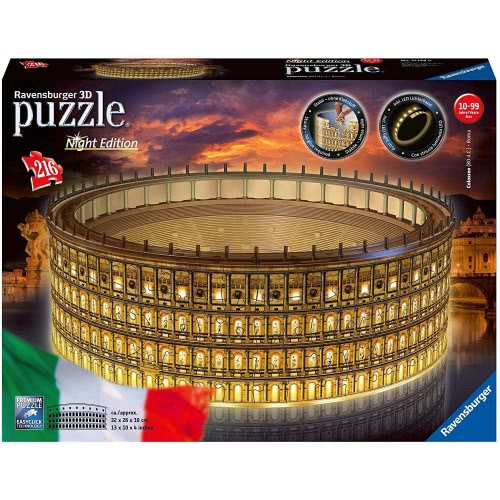 Ravensburger 3D Puzzle Night Edition 216 Τεμ. Το Κολοσσαίο 11148 4005556111480