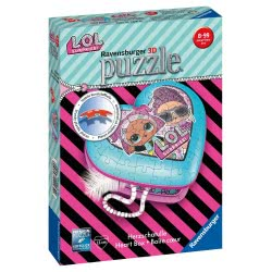 Ravensburger 3D Puzzle 54 Pieces Heart Box L.O.L. Surprise 11164 4005556111640