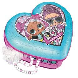 Ravensburger 3D Puzzle 54 Pieces Heart Box L.O.L. Surprise 11164 4005556111640