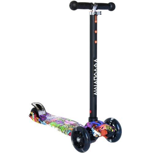 ΑΘΛΟΠΑΙΔΙΑ Three Wheeled Scooter With Lights, N.6 - Black 002.61210/6 9985777000549