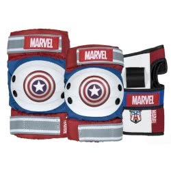 POWERSLIDE Marvel Captain America Σειρά Προστατευτικά - Medium 17.910724/M 4040333489765