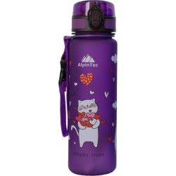 AlpinTec Canteen Kids 500Ml Cats Purple C-500PE-4 4891327705831