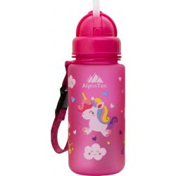 AlpinTec Water Canteen Kids 400Ml Pony With Straw Pink C-400PK-3 4891327724276