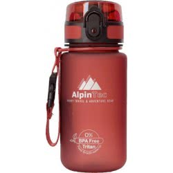 AlpinTec Water Canteen 350Ml Bpa Free Fast Open Dark Red P-350DR 4891321735018