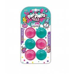 YULU Poppops Pets 6 Pack - Pink 40041 8719324072526