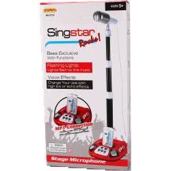Toys-shop D.I Sing Star Rocks Μικρόφωνο Με Βάση, Ήχους, Φώτα Και MP3 - 2 Χρώματα JM083029 6990119830299