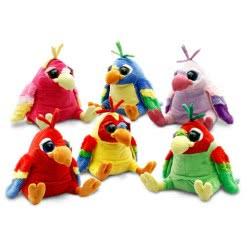Keel Toys Παπαγάλος Βελούδο 25Cm 6 Χρώματα SF8646 5027148086463