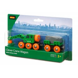 Brio World Clever Crane Wagon 33698 7312350336986