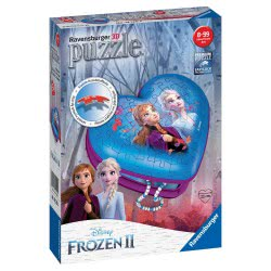 Ravensburger Disney Frozen II Heart Shaped 54Pc 3D Jigsaw Puzzle 12120 4005556121205