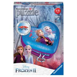 Ravensburger Disney Frozen II Heart Shaped 54Pc 3D Jigsaw Puzzle 12120 4005556121205