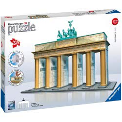 Ravensburger 3D Puzzle Maxi 216 Pieces Brandenburg Gate Building 12551 4005556125517
