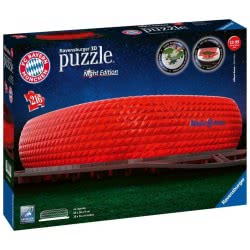 Ravensburger 3D Puzzle Night Edition 216 Pieces Allianz Arena 12530 4005556125302