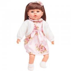 OEM Η Κουκλίτσα Μου Με Λευκή Ζακέτα Και Ροζ Φορεματάκι Με Λουλούδια, Μιλάει Ελληνικά G18-LP2401 5555552401188