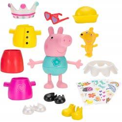 GIOCHI PREZIOSI Peppa Pig Φιγούρα Dress Up Deluxe 10Cm PPC57000 8056379086376