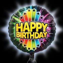 GIOCHI PREZIOSI Illooms - Μεγάλο Φωτεινό Μπαλόνι Happy Birthday Foil LLM08000 8056379089278