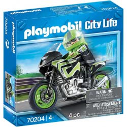 Playmobil City Life Motorcycle With Rider 70204 4008789702043