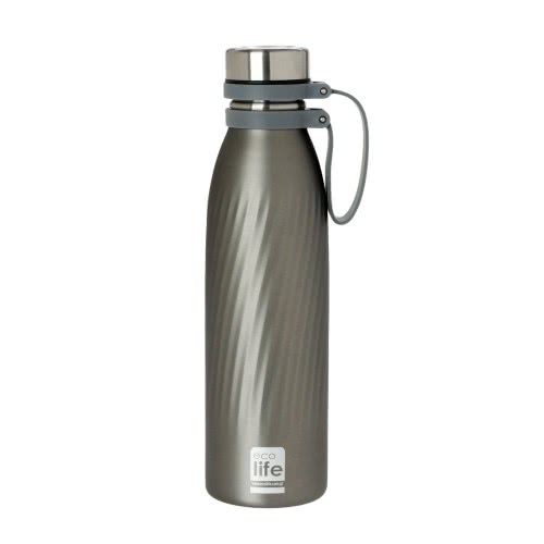eco life Μεταλλικό Ανοξείδωτο Θερμός Μπουκάλι 500Ml Cool Grey - Γκρι 33-BO-3030 5208009000358