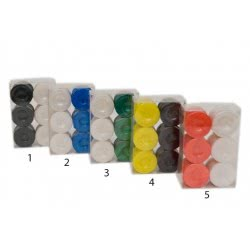 Argy Toys Σετ Πούλια Για Τάβλι Τύπου Φίλντισι - 5 Χρώματα 1036Σ 5200252250108