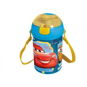 Stor Cars Race Ready Plastic Canteen Pop Up Flip 450 Ml B18769 8412497187690