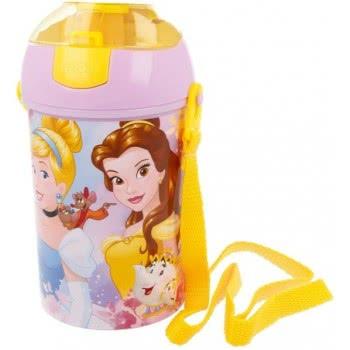 Stor Disney Princess Plastic Water Canteen Pop Up Flip 450 Ml B29669 8412497296699