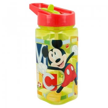 Stor Square Plastic Water Canteen 530 Ml - Mickey Mouse B44214 8412497442140
