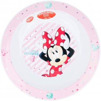Stor Minnie Mouse Deep Plate Pink B18848 8412497188482