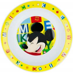 Stor Mickey Mouse Deep Plate Yellow B44248 8412497442485