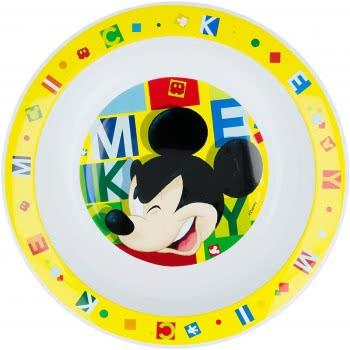 Stor Mickey Mouse Deep Plate Yellow B44248 8412497442485
