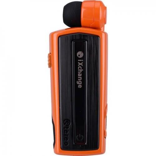 iXchange Stereo Retractable UA-28FZV Bluetooth Headset With Vibrator - Orange UA28FZV 6970312530080