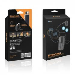 iXchange Stereo Retractable UA-28FZV Bluetooth Headset With Vibrator - Gold UA28FZV 6970312530097
