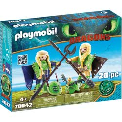 Playmobil Dragons Ruffnut and Tuffnut with Flight Suit 70042 4008789700421