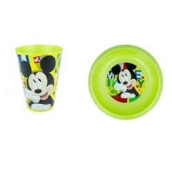 Stor Mickey Mouse Παιδικό Σετ Φαγητού ( Πιάτο Και Ποτήρι )- Πράσινο B98224 8412497982240