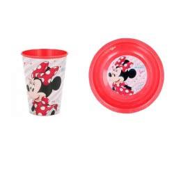 Stor Minnie Mouse Παιδικό Σετ Φαγητού ( Πιάτο Και Ποτήρι ) - Κόκκινο B98225 8412497982257