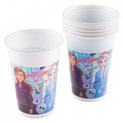PROCOS Disney Frozen II Πλαστικά Ποτήρια 200Ml 6 Τεμάχια 091825 5201184918258