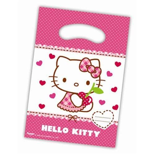 PROCOS Σακουλάκια Δώρων HELLO KITTY HEARTS 6τμχ. 081796  5201184817964