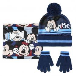 Cerda Σετ Σκούφος Κασκόλ Και Γάντια Mickey - Μπλε 2200004325 8427934291410
