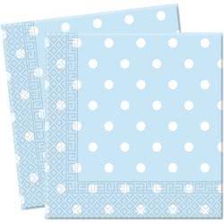 PROCOS Χαρτοπετσέτες BLUE DOTS 33Χ33 080717 5201184807170