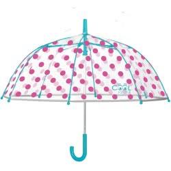 Loly Perletti Cool Kids Umbrella Transparent - Fouchsia Dots 15561 8015831155616